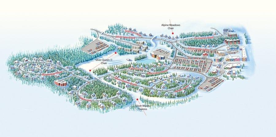 SilverStar Mountain Resort Village Map