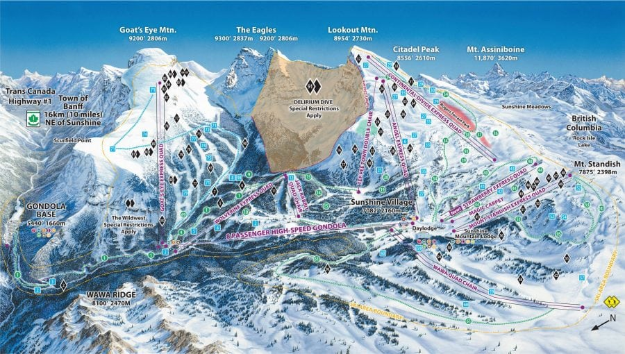 Sunshine Village Map