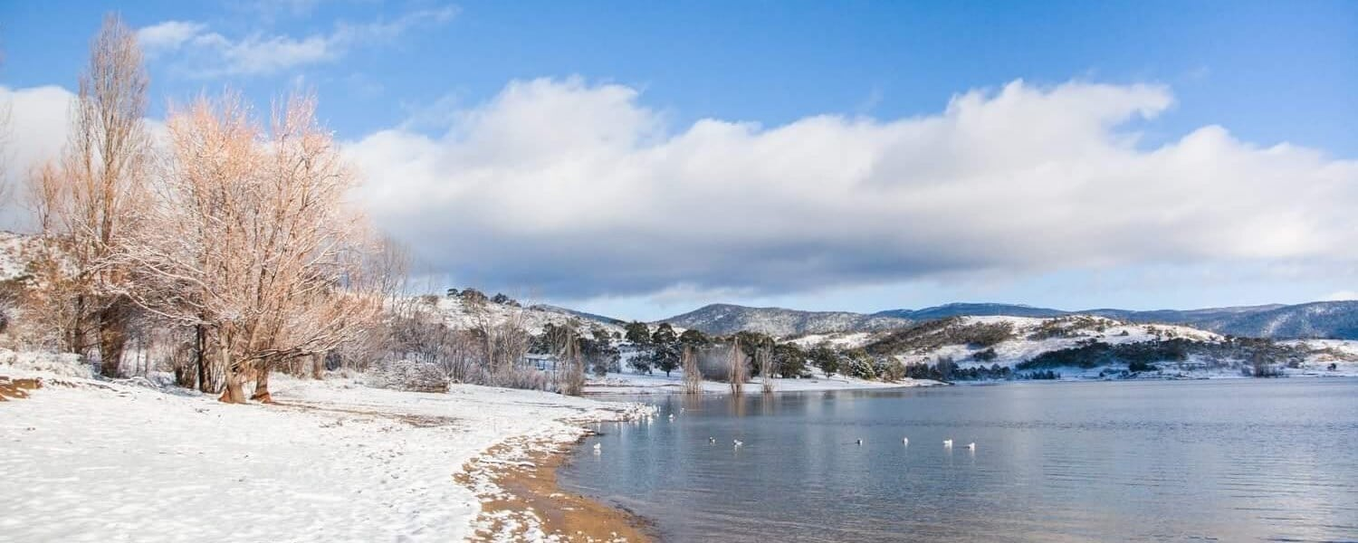 Jindabyne Lake Snow