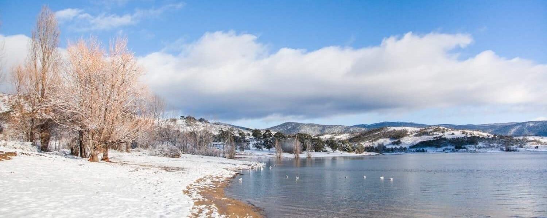 Jindabyne Lake Snow