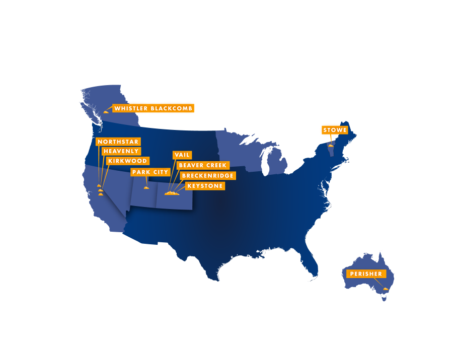 Epic Pass Resorts Map