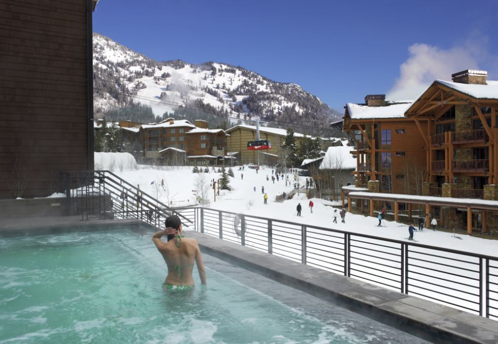 Jackson Hole ski in ski out hotel with pool